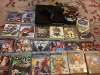 PS3 console and 20 games