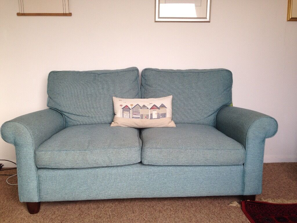 laura ashley teal blue sofas x2 in helston cornwall gumtree. Black Bedroom Furniture Sets. Home Design Ideas