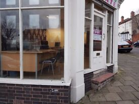 Shop to Let in Hockley, Birmingham would suit Hairdresser/ Office