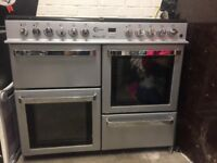 FLAVEL Milano 100,double oven 8 hob gas cooker, good condition hardly used.buyer collects