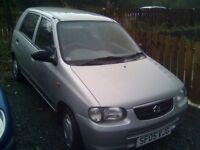 Suzuki Alto £30 A YEAR ROAD TAX