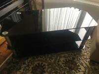 Black glass tv stand/tv unit