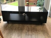 Beautiful black gloss TV / audio stand - REDUCED BY £25!