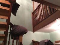 Need help lifting large headboard to upper floor!