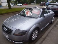 Audi TT Roadster 150 BHP,1781 cc Convertible,FSH,very nice clean tidy car,runs and drives well