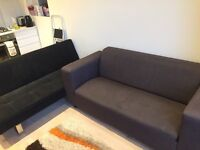 Charcoal 2 seater sofa and 2 seater sofa bed - FREE! COLLECTION ONLY!