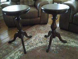 Pair of Mahogany Wine/Lamp Tables