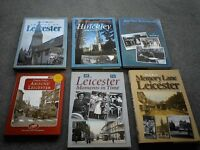 Leicester - selection of books looking at the history of Leicester with numerous photos
