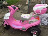 Pink electria scooter