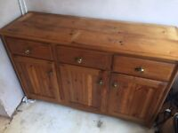 Pine sideboard unit, reasonable condition