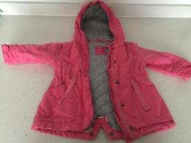 """Next"" baby girl coat size 9-12 months"