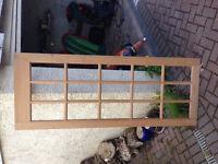External door; glass panels, brand new