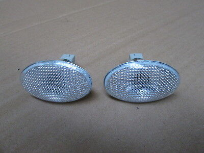 WHITE SIDE REPEATER LAMPS COMPLETE WITH BULB HOLDER  NEW