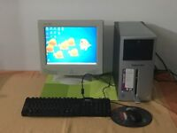 Packard bell PC complete with Monitor, Keyboard, Mouse cables and Wireless Internet USB Adapter