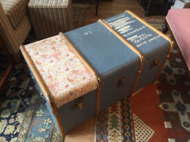 Lovely light blue trunk , in good condition Feel free to view Size L 36 in D 21 in H 19 in