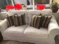 2 seater cream Ikea settee/sofa