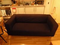 Ikea Klippan 2/3 seater sofa BLACK in very good condition COLLECTION ONLY