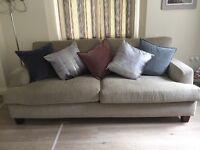 3 Seater Oatmeal Sofa