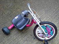 Barbie tricycle go kart ride on