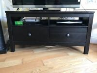 Large TV/DVD mount unit with lots of storage space. Dark wood would suit most living rooms!