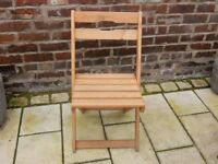 1 X FOLDING PINE CHAIR DINING KITCHEN OFFICE SPACE SAVER