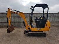 JCB 801.4 1.5 tonne Mini digger 2011 only 1100 hrs Fantastic machine. Finance