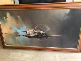 Bf Clark spitfire paining print