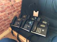 6 x Yealink T42 voip cloud bt phone handset with head set phone system