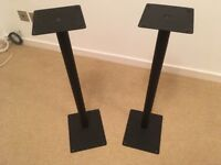 Black Gale speaker stands with removable spikes
