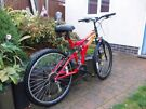 Polaris Mountain Bike~Full Suspension~Large comfort Seat~Very Good Condition~Exeter~Can Deliver