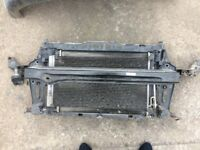 Mini Clubman 2008 1600 petrol radiator complete with aircon rad and slam panel