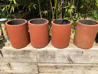 4 chimney pots open bottom great for planters