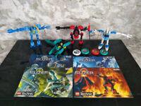 LEGO Technic Slizer Throwbot bundle. 8500 8501 8502 8503 Ice Fire Scuba Turbo Instructions