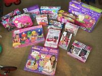 Selection of arts and craft girls toys