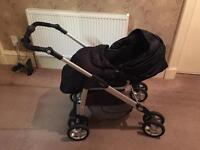 Beautiful silver cross pram from new born onwards rrp 419 pounds