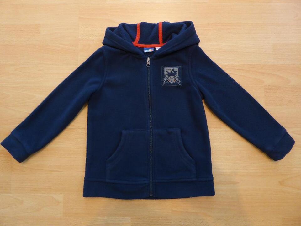 blaue Fleece Jacke mit Kapuze Gr. 110/116 von Lupilu - neuwertig! in Limburgerhof