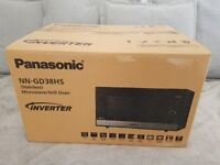 Brand New Panasonic 1000W 23L NN-GD38HSBPQ Inverter Microwave Oven with Grill