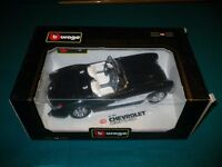 Burago Diecast Chevrolet Corvette 1957 Black I Very Good Condition