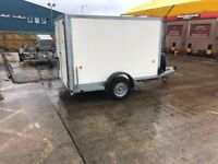 BV85 Ifor Williams box trailer in as new cond