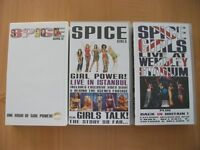Lot of 7 Spice Girls and Family Movies VHS Video Tapes robin williams, disney, aladdin, hook, music