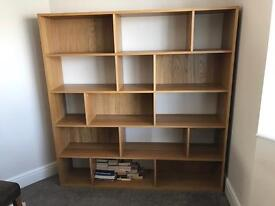 Large oak shelving unit NEXT