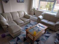 Lot of 2 sofas + stool