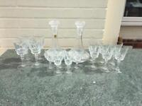 Cristal glasses and 2 decanters