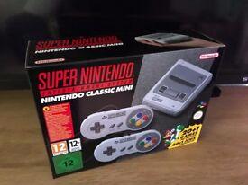 New Nintendo SNES Classic Mini console......