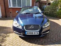 2008 JAGUAR XF 2.7 TD V6 LUXURY AUTOMATIC 4 DOOR SALOON TURBO DIESEL BLUE