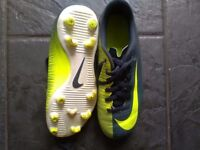 Boys football boots and Astros size 2