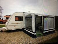 Bailey Senator 2 berth with large end wash room. Motor mover. Service history. Ready to use.