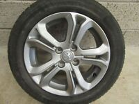 """RARE PEUGEOT 208 4 STUD 16 """" ALLOYS + NEARLY NEW TYRES --"""