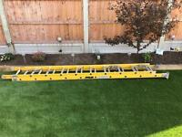 Extending fibre glass ladders 6 metre extended