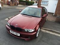 2005 BMW E46 Individual Ruby Red M Sport Manual very rare Saddle brown Leather